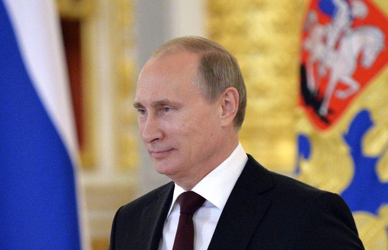De Russische president Vladimir Poetin. Beeld ap