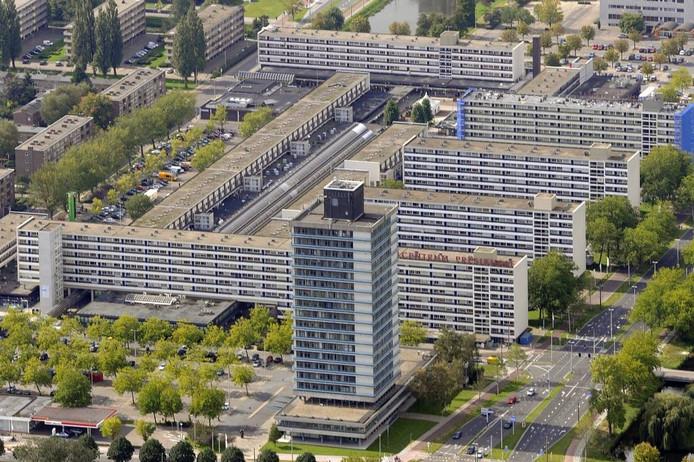 De voormalige toren van Rijkswaterstaat bij het Arnhemse Winkelcentrum Presikhaaf.