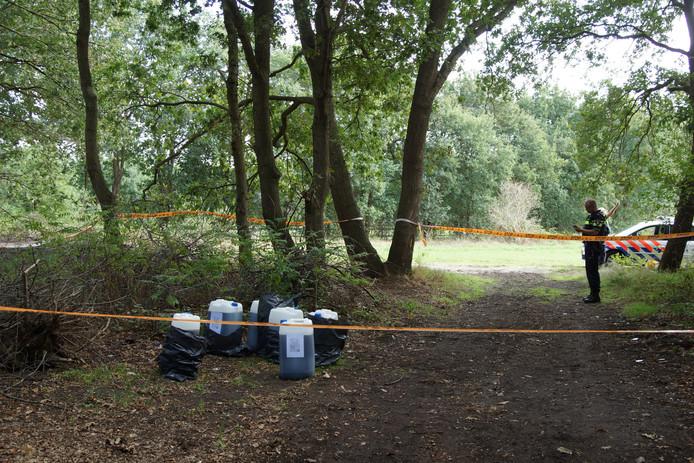 Drugsafval gedumpt in Loon op Zand.