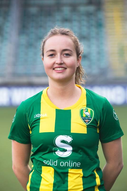 Damesvoetbal.ADO speelster Rosalyn van der Dussen(Den Haag 09-10-17) Foto:Frank Jansen