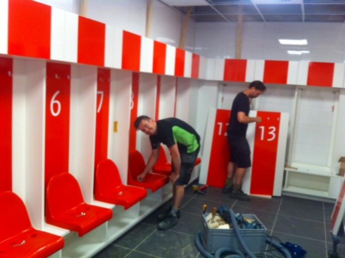 De nieuwe kleedkamer van FC Oss.