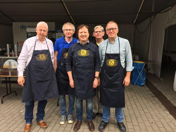 Enkele leden van Kiwanis Gent Gravensteen.