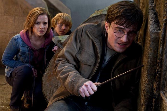 Emma Watson, Rupert Grint en Daniel Radcliffe in Harry Potter.