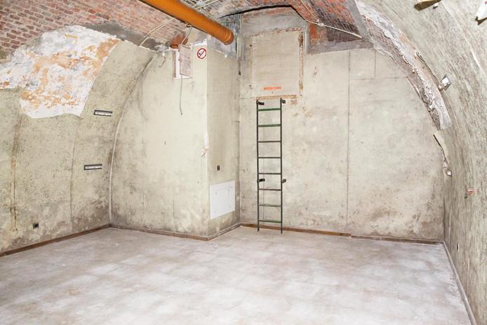 Een uitbreiding van de bunker, bijgebouwd door de Civiele Bescherming.