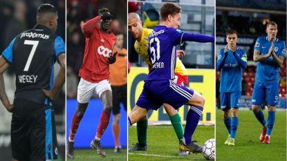 OVERZICHT. Genk start play-off 1 met 4 punten voor op Club, 5 op Standard, 6 op Anderlecht en zo ziet play-off 2 eruit