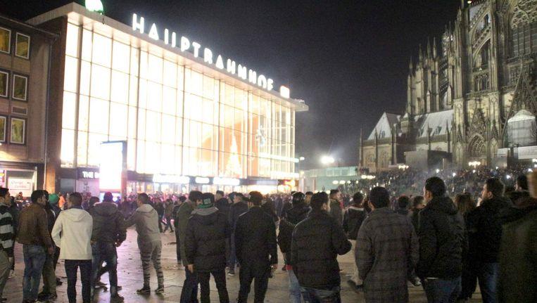 Bij het station in Keulen vond een massa-aanranding plaats tijdens oudejaarsnacht. Beeld afp