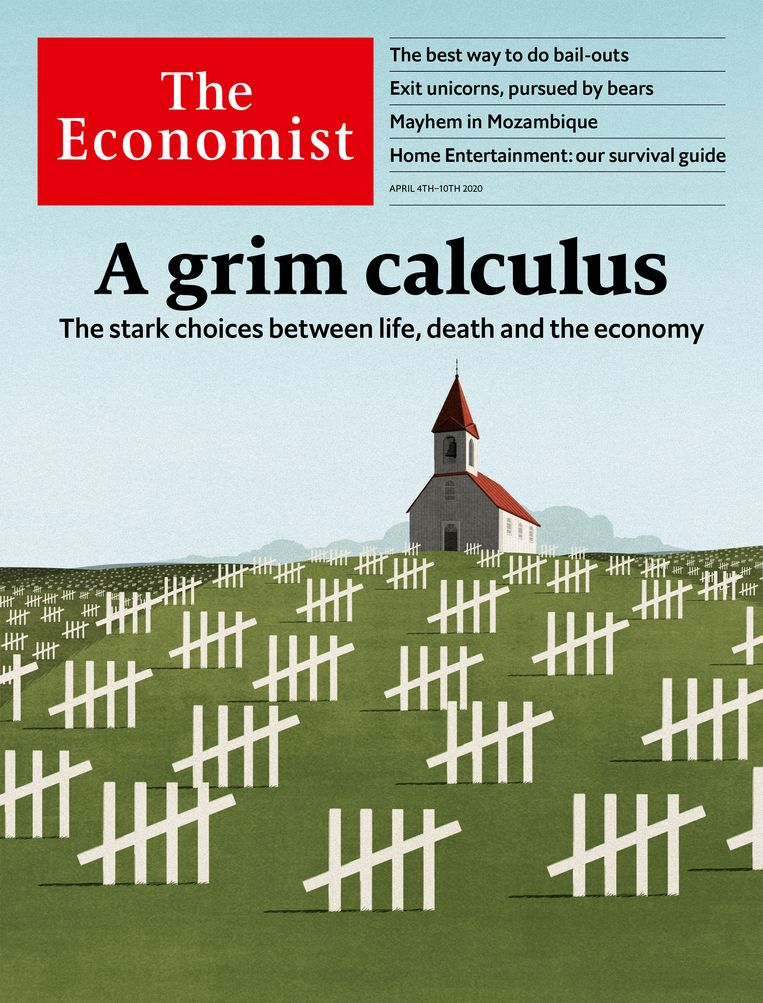 De cover van 4 april 2020. Beeld The Economist