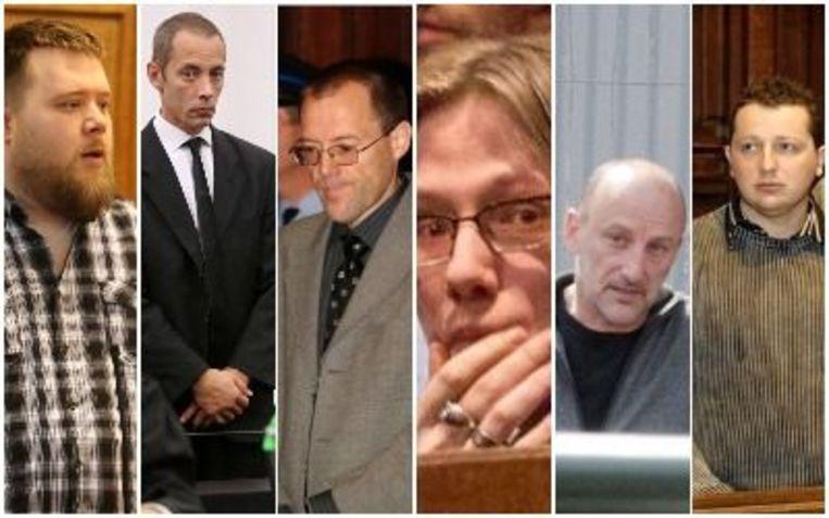 Vlnr: Koen Claes,  Marc Van Overschelde, Paul Pieters, Ezra Van Herzeele, Rudy Machiels, David Boeckx