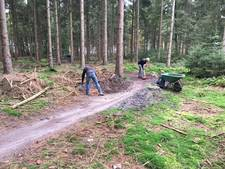 Mtb-route in Staphorster bos is opgeknapt