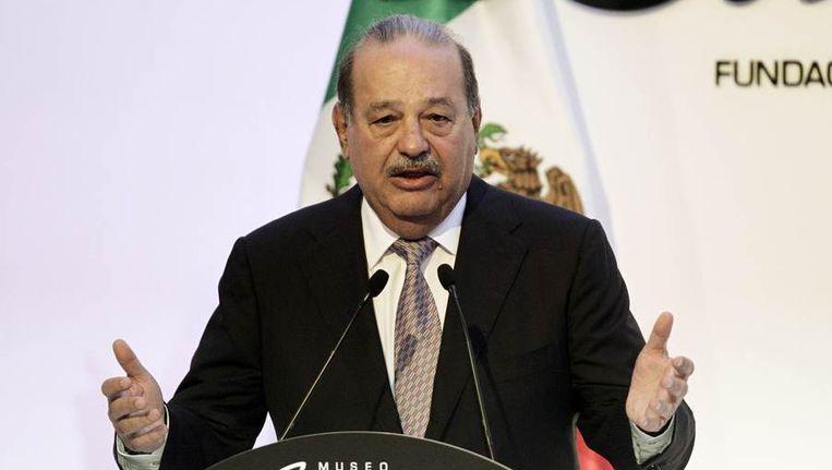 Carlos Slim in maart vorig jaar. Beeld reuters