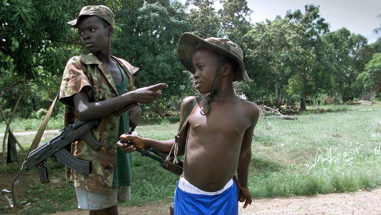 Kindsoldaten in april 2000. Beeld AFP