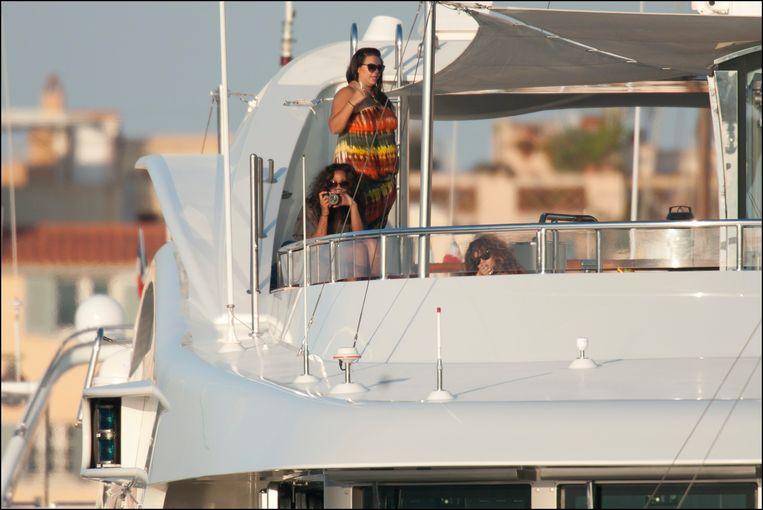 Rihanna op haar jacht in Saint-Tropez