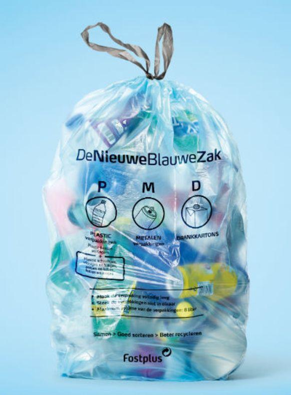 De nieuwe blauwe pmd-zak PMD blauwe zak