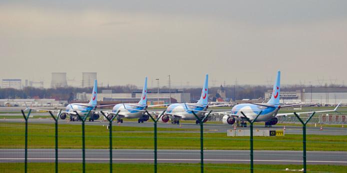 Quatre Boeing 737 MAX deTUI fly Belgium, cloués au sol à l'aéroport de Zaventem, en avril dernier