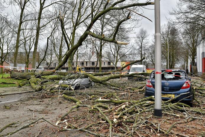 De storm zorgde voor veel schade in Brabant.