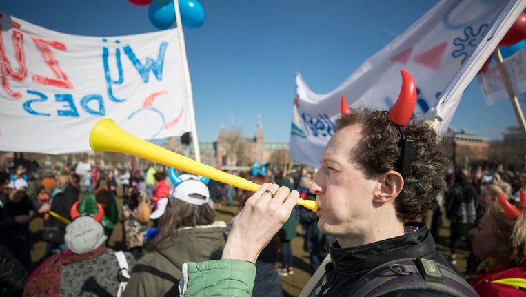 Op 14 maart demonstreerden leraren voor beter onderwijs. Beeld anp