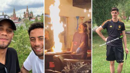 Tijd voor ontspanning: Kompany en co op verkenning in Moskou, Courtois speelt minigolf met de familie, Januzaj deelt beelden van vurige barbecue