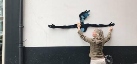 Kampen krijgt 'corona-kunst' aan de muur