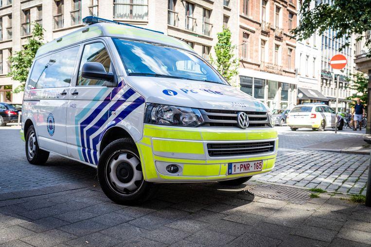 Een combi van de Antwerpse politie.