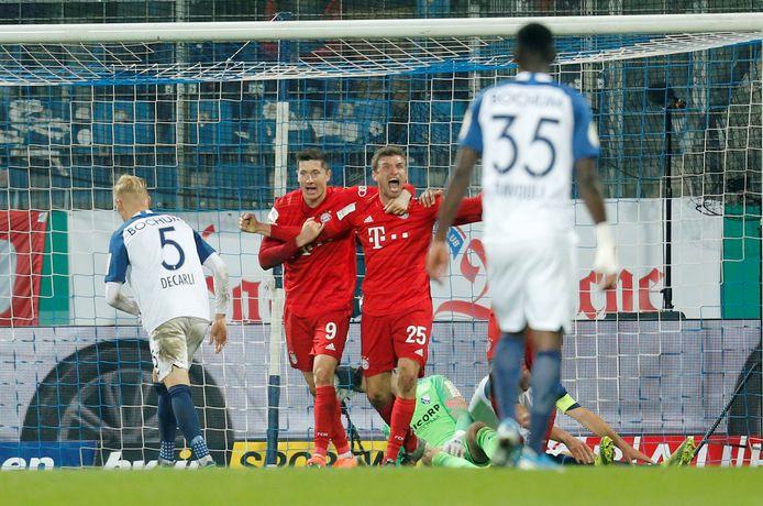Het dodelijke duo van Bayern: Robert Lewandowski met Thomas Müller.