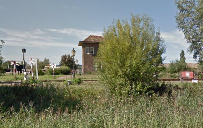 Het seinhuisje op het terrein van de Stoomtrein