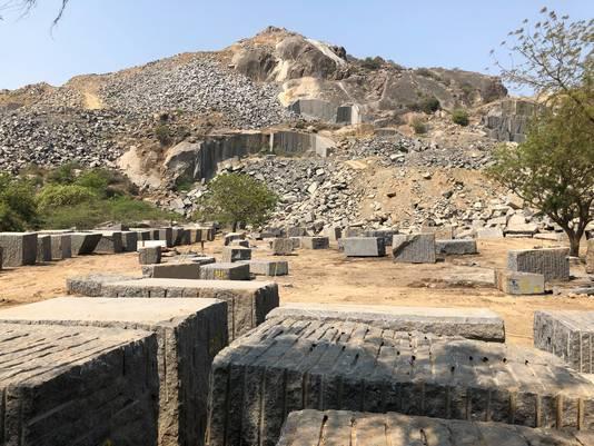 Een steengroeve in India waar Arte zijn natuursteen vandaan haalt.
