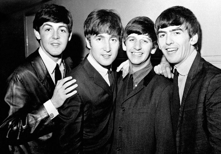 Vlnr: Paul McCartney, John Lennon, Ringo Starr and George Harrison.