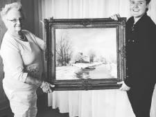 Kleindochter Silke verrast oma met schilderij van oom Henk, gevonden op Marktplaats