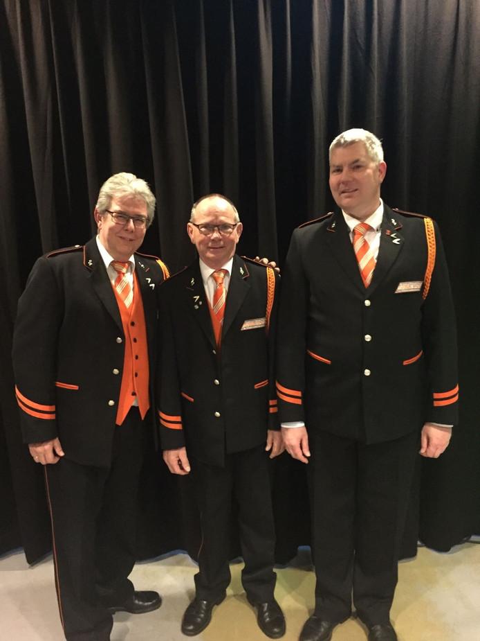 Van links naar rechts: Marco van der Zande, Koos Schellings en Andre Doorembosch