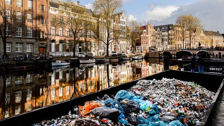 Varen er binnenkort afvalboten door de grachten van Amsterdam? Beeld Remko de Waal/ANP