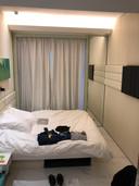 De hotelkamer van Brian van der Steen waar hij in quarantaine zit