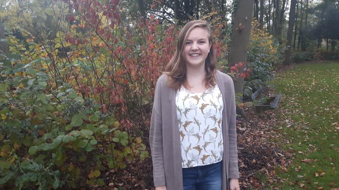 Linde Lokin (15) uit Boxtel; leerling van het Gymnasium Beekvlier in Sint-Michielsgestel