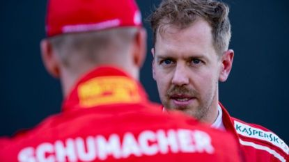 """De mooie woorden van Mick Schumacher voor Vettel: """"Sebastian is voor mij wat mijn vader voor hém was"""""""