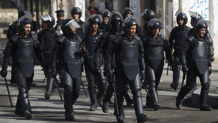 De oproerpolitie in Egypte Beeld reuters