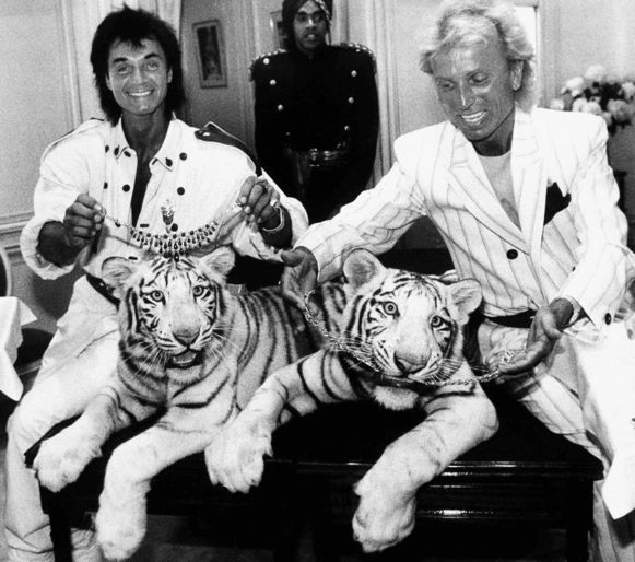 Roy Horn en Siegfried Fischbacher in 1987.