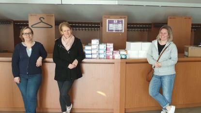 Technov, Virgo+ en De Knipoog overhandigen stock handschoenen en mondmaskers aan medisch centrum
