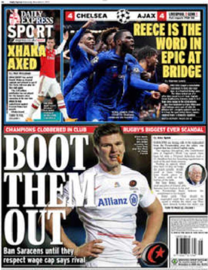 Voorpagina sportkatern Daily Express