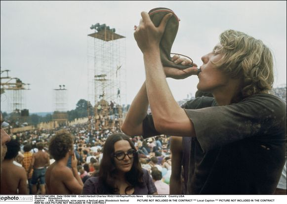 Woodstock was in 1969 één groot hippiefeest.