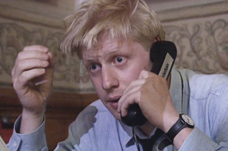 Boris Johnson als EU-correspondent in Brussel, begin jaren negentig. Beeld NTR/VPRO