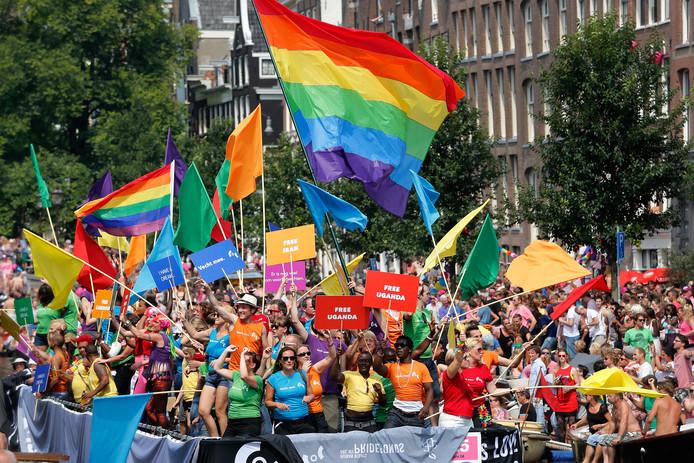 Botenparades zijn een traditioneel onderdeel van Gay Pride-evenementen.