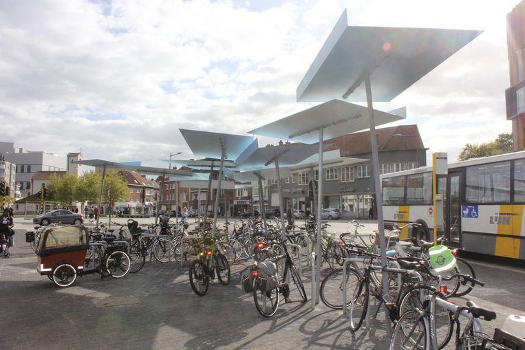De nieuwe fietsenstalling aan het Werfplein.