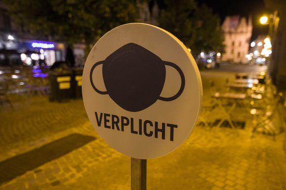 MECHELEN - Een informatiebord op de IJzerenleen in Mechelen.