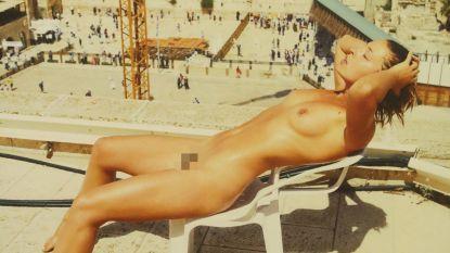Vlaams model poseert naakt aan Klaagmuur