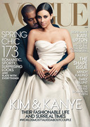 Kim Kardashian en Kanye West op de cover van Vogue