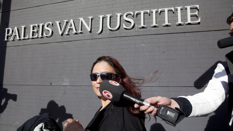Constanza Breukhoven voor de rechtbank in Den Haag op archiefbeeld Beeld ANP