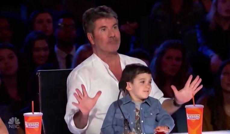 Simon Cowell en zijn zoontje, Eric.