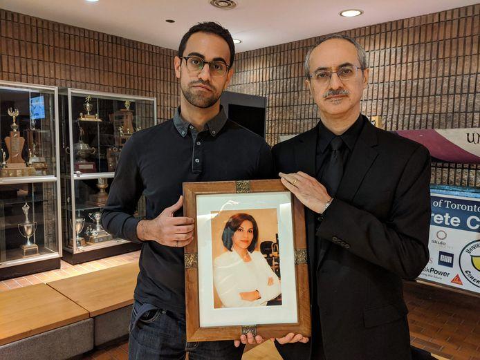 Amirali Alavi et son père Farzad Alavi.