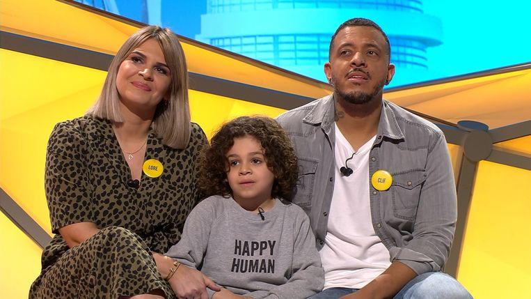 Jack met zijn mama Lore en papa Clif.