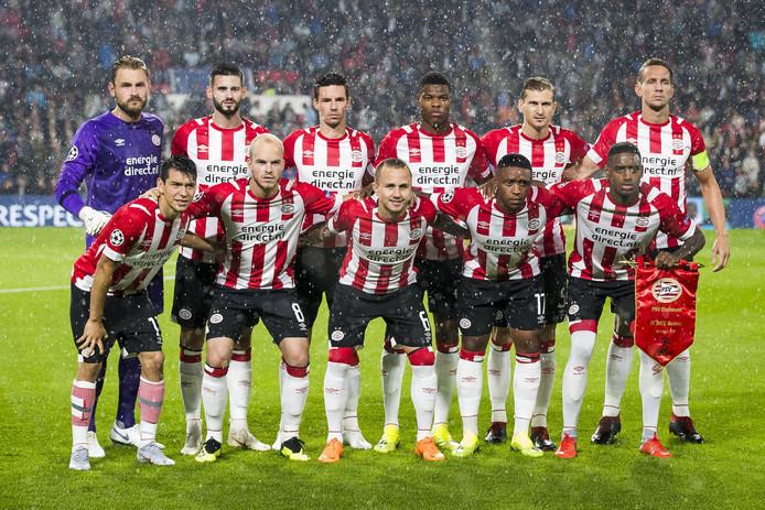 De basiself van PSV voor de wedstrijd tegen BATE Borisov (3-0 winst) van gisteravond in Eindhoven.
