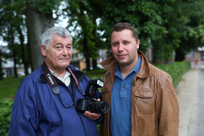 Jacky Delcour en huidig burgemeester Steven Van Linthout (CD&V) in 2013, pioniers van Likert TV.